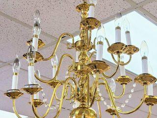 16 Arm Golden Brass Chandelier