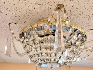 Vintage Crystal Flush Ceiling light
