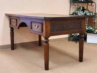 Teak Wood Hand Carved Desk - Made in Indonesia