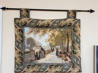 Padded Tapestry With Telescoping Arrow Rod 33 w x 32 t