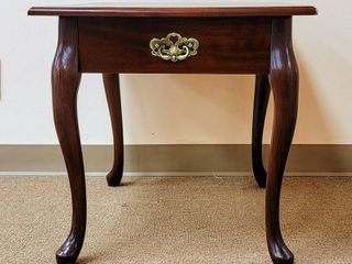 Side Table with Faux Drawer