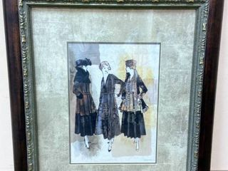 Beautiful Framed Double Matted Augustine Print