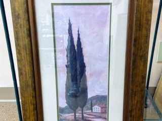 Custom Framed and Dbl Matted Print of Afternoon In Tuscany 12  x 24