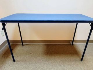 2 Blue Padded Folding Tables Cosco