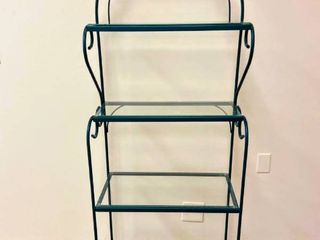Metal Bakers Rack with Glass Shelves
