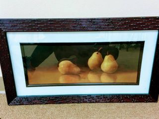 Nicely Framed and Matted Pear Print