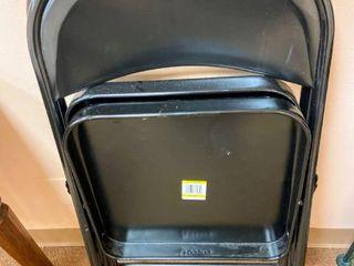 2 Black Metal Folding Cosco Chairs