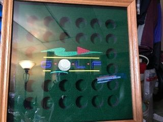 Golf ball storage display case