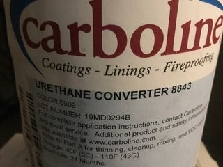 Case of 4 gallons of urethane converter by Carboline