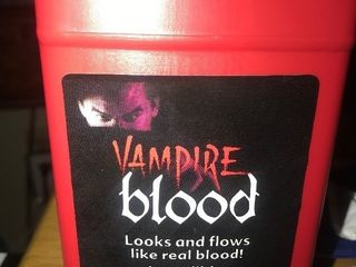 Get ready for Halloween two bottles 16 ounce vampire blood very authentic looking great for Halloween costume prep