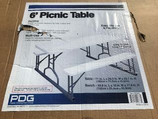 New inbox picnic table as pictured