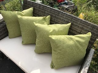 New set up for outdoor accent pillows