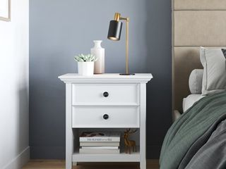 WYNDENHAll Halifax SOlID WOOD 24 inch Wide Traditional Bedside Nightstand Table Retail 231 99