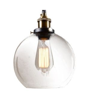 Carbon loft Gertrude 8 inch Adjustable Height Pendant with Bulb