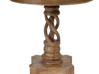 Bengal Manor Mango Wood Twist Accent Table Retail 370 00