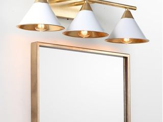 Yvette 3 light 25  Metal Vanity Wall light  White Gold by JONATHAN Y Retail 135 49
