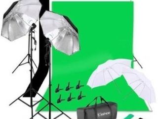 135W Non woven Background Umbrella Photography Continuous lighting Kit   New