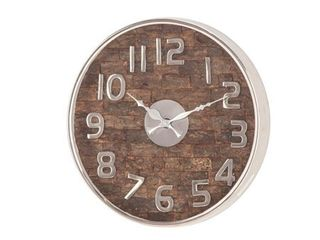 Decmode Rustic 13 X 13 Inch Round Wall Clock