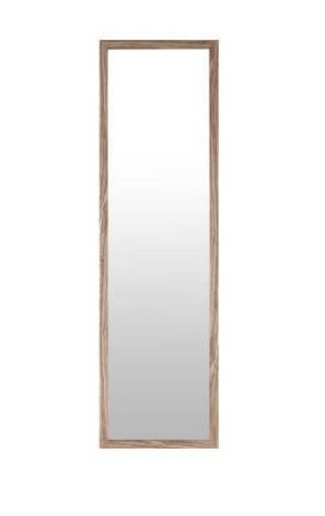 Mirrorize ca 49 5x13 5  Oak Finish Framed Door and Wall Mirror Full length Hanging Mirrors Rectangle large long Entryway Bedroom