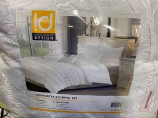 White Marley Ruffle Comforter Set Full Queen 5pc