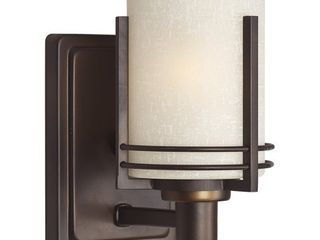 Forte lighting 5692 01 Antique Bronze 1 light 9  Tall Wall Sconce
