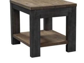 Rutland Grove two tone charcoal and desert end table