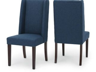 Rory Wing Back Fabric Dining Chair  Set of 2  by Christopher Knight Home Retail 305 99