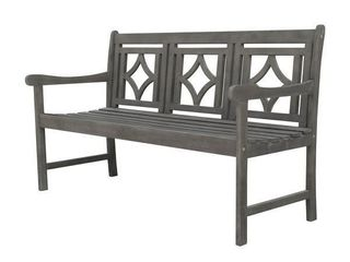 Hydaburg Outdoor Patio Diamond 5 foot Bench by Havenside Home  Retail 225 99