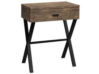 Offex 24 H Contemporary Brown Reclaimed Wood look Accent Bedroom Night Stand with Black Metal Base  Retail 149 99