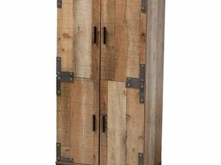 Cyrille Modern and Contemporary Farmhouse Rustic 4 Door Shoe Cabinet  Retail 213 49