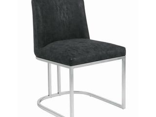 Strick   Bolton Alanis Black and Chrome Dining Chair   20  x 23  x 32  Retail 168 49