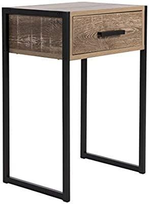 Carbon loft likel Weathered Wood Bedside Table