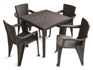 MQ INFINITY Espresso Patio Dining table only Retail 171 49