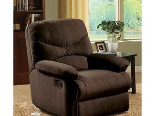 Copper Grove Brettenham Plush Chocolate Microfiber Recliner Chair  Retail 279 49