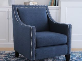 Abbyson Adrienne Nailhead Accent Chair  Retail 260 99