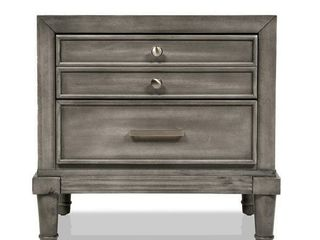 Furniture of America Hax Transitional Grey Solid Wood Nightstand  Retail 198 54