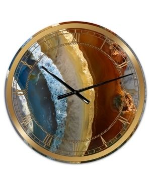 Designart  Mineral Slice XV  Oversized Fashion Wall Clock  Retail 159 99