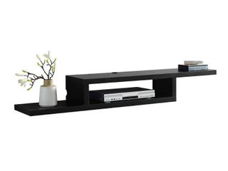 Martin Furniture 60  Asymmetrical Wall Mounted A V Console  60inch  Black
