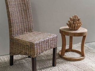 International Caravan Java Rattan Mahogany Dining Chair  Retail 108 99