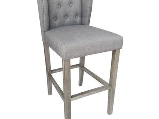 Wellington Contemporary Wood linen Barstool  Retail 123 49