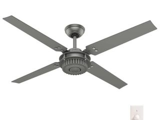 Hunter 54  Chronicle Matte Silver Ceiling Fan with Wall Control