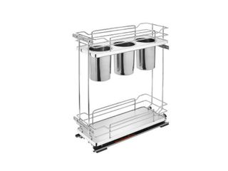 Two Tier Utility Organizer with Blum Soft Close   8 71 W x 21 69 D x 24 H  Retail 421 99