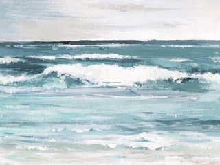 Marmont Hill   Handmade Free as the Ocean Print on Wrapped Canvas  Retail 129 99