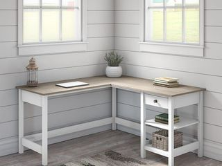 The Gray Barn Orchid Gulch l shaped Desk with 5 shelf Bookcase  Retail 578 99