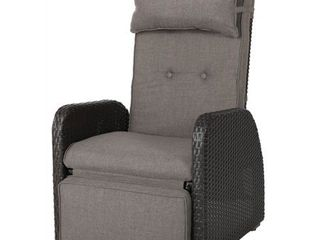 Ostia Wicker Recliner with Cushion by Christopher Knight Home  Retail 326 49