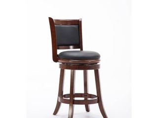 Boraam Augusta 24 in  Swivel Counter Stool Cherry