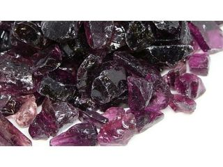20 30mm Purple Fireglass Rocks  10lb box