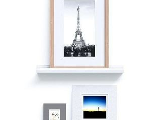 22  46  Floating Picture Display ledge Wall Mount Shelf Denver Modern Design White