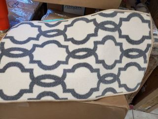Fancy Moroccan Trellis Non Slip Doormat Accent Rug Rubber Backed