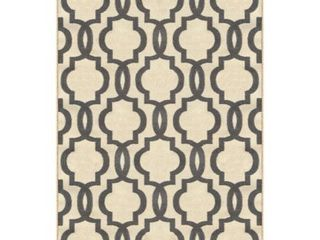 Kapaqua Fancy Moroccan Trellis Non Slip Area Rug Rubber Backed  3 4  x 5